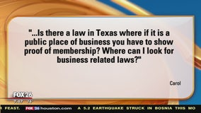 Your Legal Questions Answered -  eviction notices and store club membership