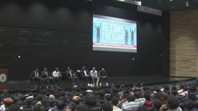 FOX 26 anchor Jonathan Martin is encouraging students to think beyond sports with 'Beyond the Game' Tour