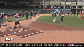 Sunshine Kids get special day inside Minute Maid Park