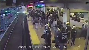 BART supervisor hailed a hero after saving man from oncoming train