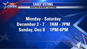 Early voting  for Houston's December runoff election  resumes Monday morning