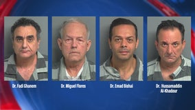 4 Montgomery Co. doctors arrested for illegally prescribing controlled substances, reportedly responsible for 8 overdoses