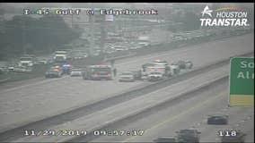 Driver of box truck dies in crash on Gulf Freeway