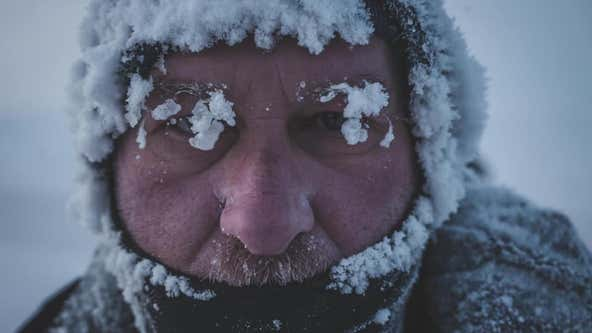 Kevin Kline runs 35 miles in a blizzard to deliver hope on Day 5 of his run