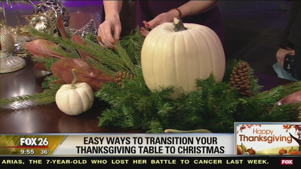 From Thanksgiving to Christmas to New Year's Eve, easy ways to transition your table
