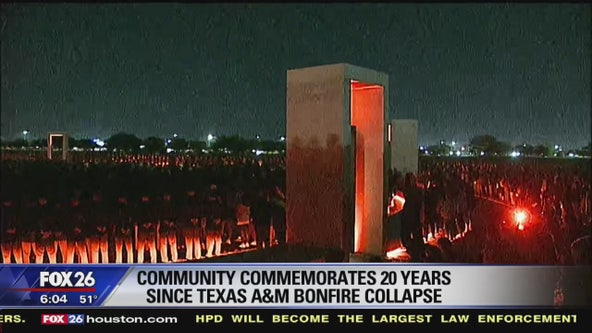 Texas A&M community remembers lives lost 20 years ago in bonfire collapse