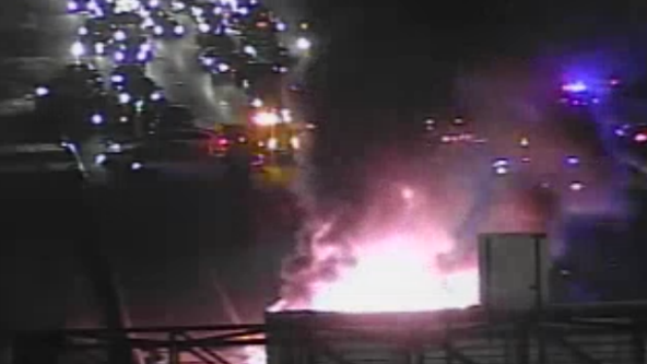 Accident causes massive truck fire to break out; all lanes close on north Beltway