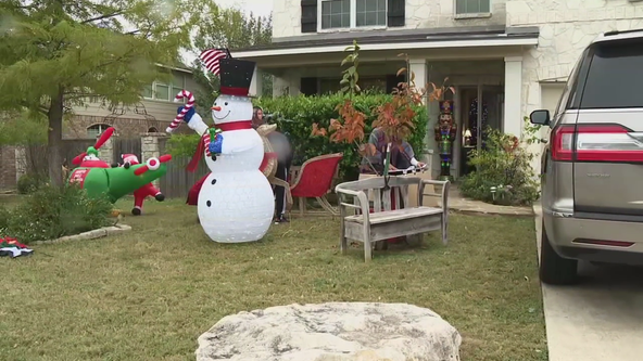 Texas family told to take down Christmas decorations 'until closer to the holiday season'