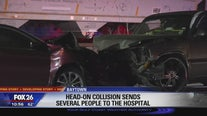 Head-on collision sends several people to hospital in Baytown