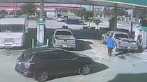 RAW: Man steals truck with child inside at Houston gas station