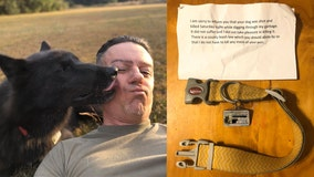 Man finds collar, note on mailbox saying missing dog was shot by neighbor for digging through trash