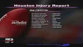 Houston Texans Injury report - Sunday, December 1