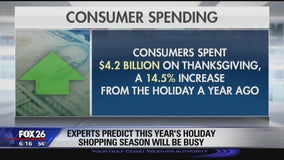 Holiday shopping sales up for Black Friday- Cyber Monday weekend