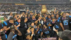 Shadow Creek Sharks win football state championship for first time