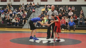 Students praised for sportsmanship as boy with cerebral palsy wins wrestling match