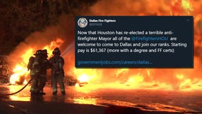 Dallas Fire Fighters offer jobs to Houston firefighters after Mayor Turner's re-election