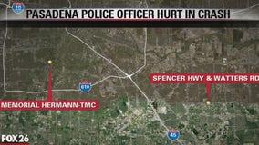 Pasadena police officer hurt in crash