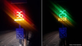 Vermont town's radar speed signs tell drivers if they're 'Naughty' or 'Nice'