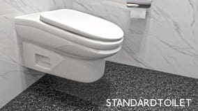 Company creates tilted toilets to keep work bathroom breaks to 5 minutes or less