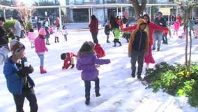 T.H. Rogers students play in 32 tons of snow