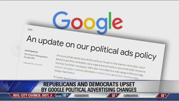 Google has Democrats and Republicans agreeing, neither like the changes in political ads online