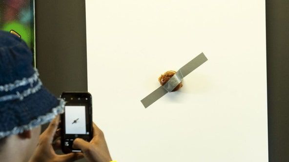 Popeyes selling $120G Chicken Sandwich duct-taped to a canvas