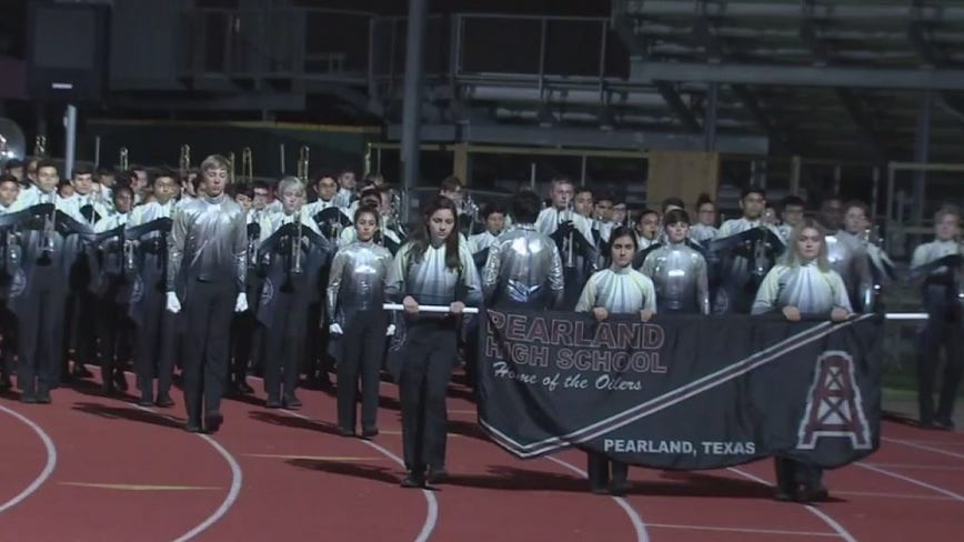 Pearland High School Band one of 20 bands worldwide performing at Rose Parade