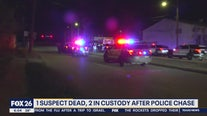 Suspect dies in police chase in north Houston.