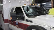 'Senseless act': Concrete thrown into windshield of ambulance in NW Harris County