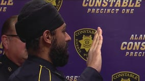 Harris County's first-ever turban-wearing constable's deputy sworn in