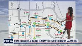 Road closures for Chevron Houston Marathon