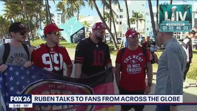 Ruben talks to NFL fans from around the globe