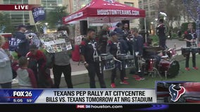 Texans fans gather for pep rally ahead of AFC Wildcard Game