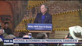 Candidate Michael Bloomberg in Texas