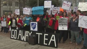 Parents, faculty, and students form rally opposing state takeover of HISD