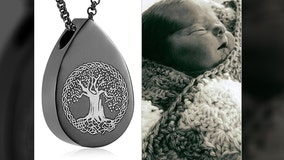 Heartbroken mother needs help locating lost necklace containing infant son's ashes