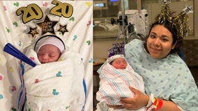 Houston babies born just minutes after midnight on New Year's Day