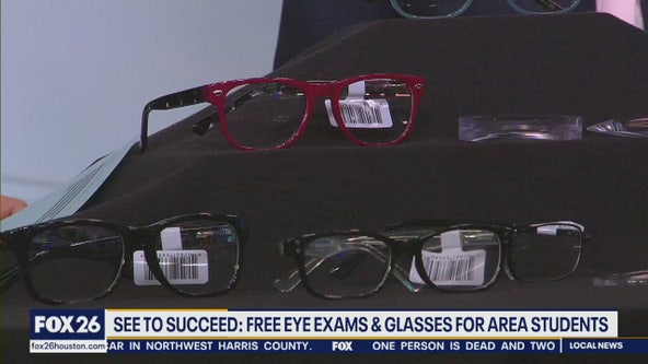 Free eye exams & glasses for area students