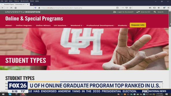 University of Houston's online graduate program is top ranked