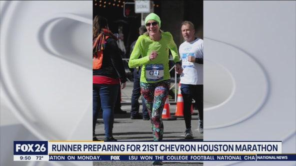 Runner preparing for her 21st Chevron Houston Marathon