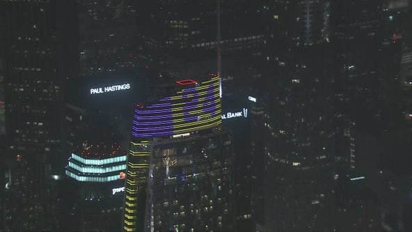 InterContinental building downtown lights up in remembrance of Kobe Bryant