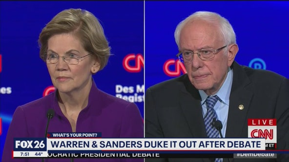 Sanders and Warren squabble over sexism after Iowa debate- What's Your Point?