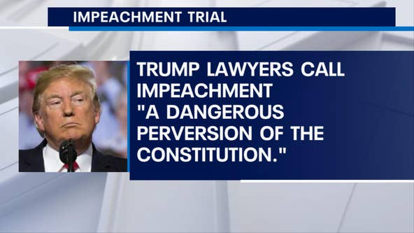 "President Trump's legal team calls impeachment case ""flimsy"""