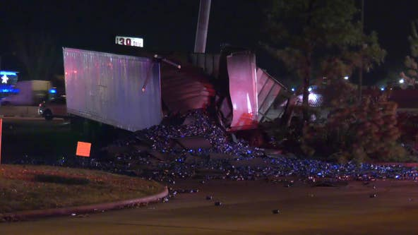 18-wheeler driver dies in crash on North Freeway at FM 1960