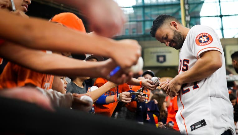 Houston Astros fans filled Minute Maid Park on Saturday for the annual FanFest event.