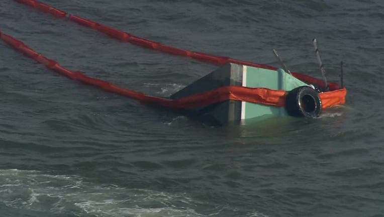 The Coast Guard is searching for two fishermen after a vessel collision near Galveston.