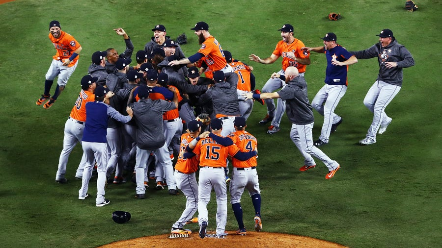 MLB commissioner says Astros will likely not be stripped of World Series crown, unsure of Red Sox