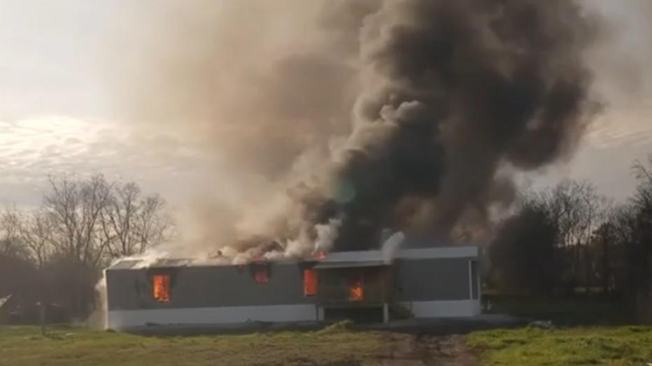Alvin house fire