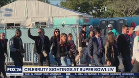 Celebrity sightings at Super Bowl LIV