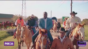 Isiah Carey goes on a trail ride